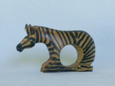 Serviette holder zebra - made of Olive wood